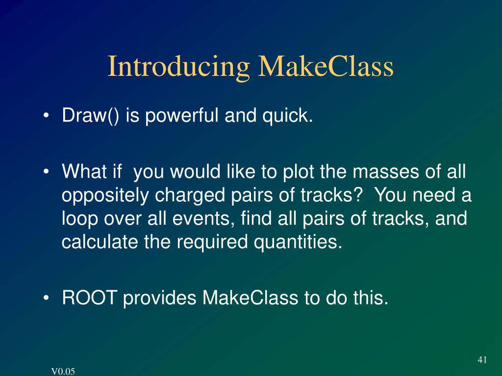Introducing MakeClass