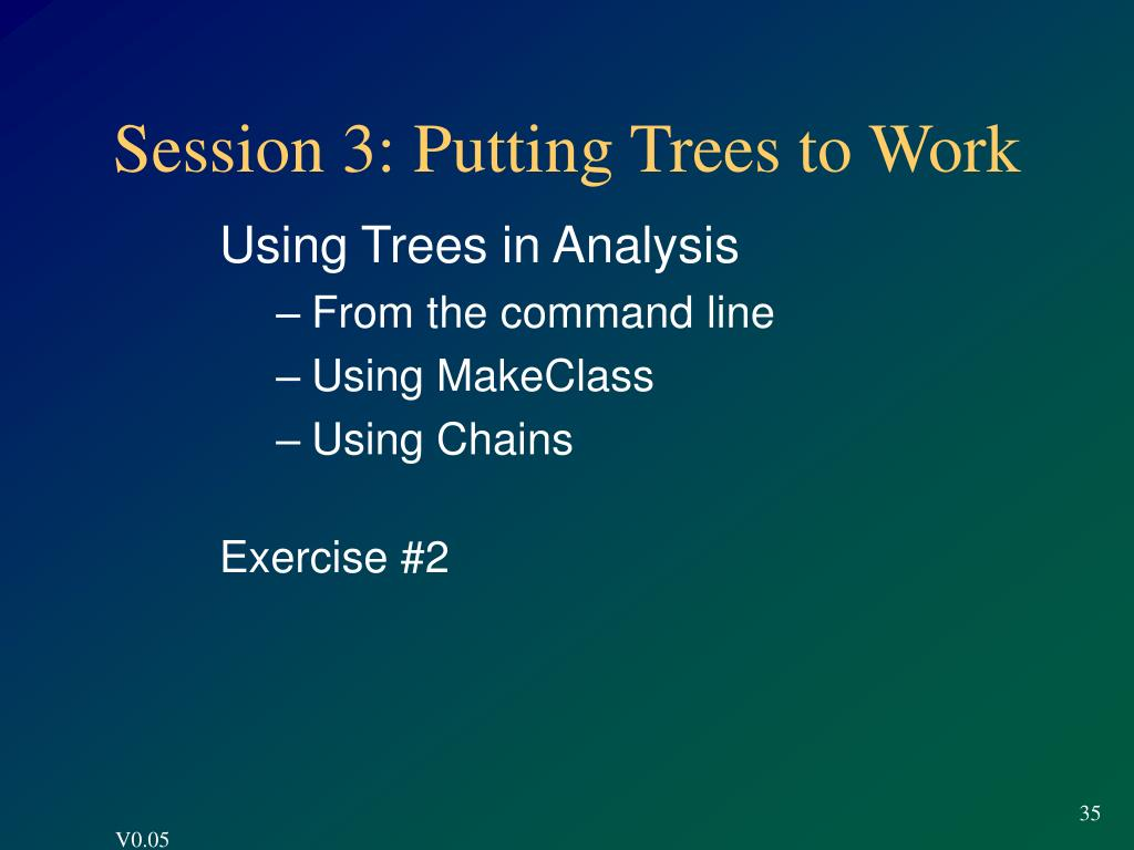 Session 3: Putting Trees to Work