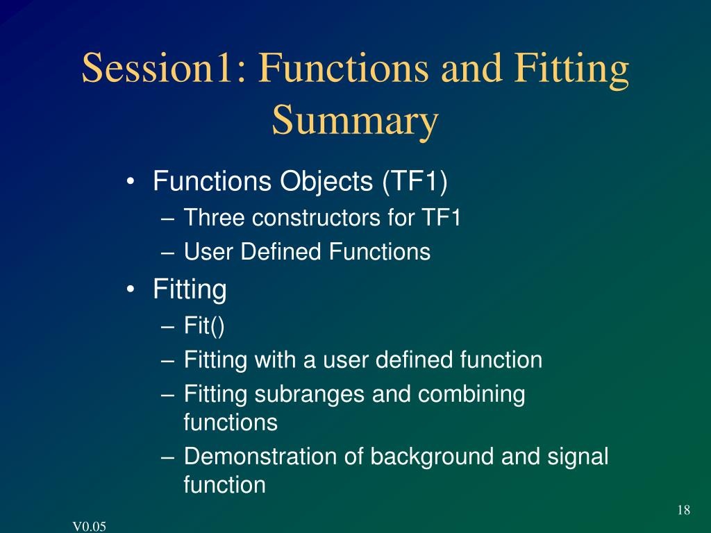 Session1: Functions and Fitting