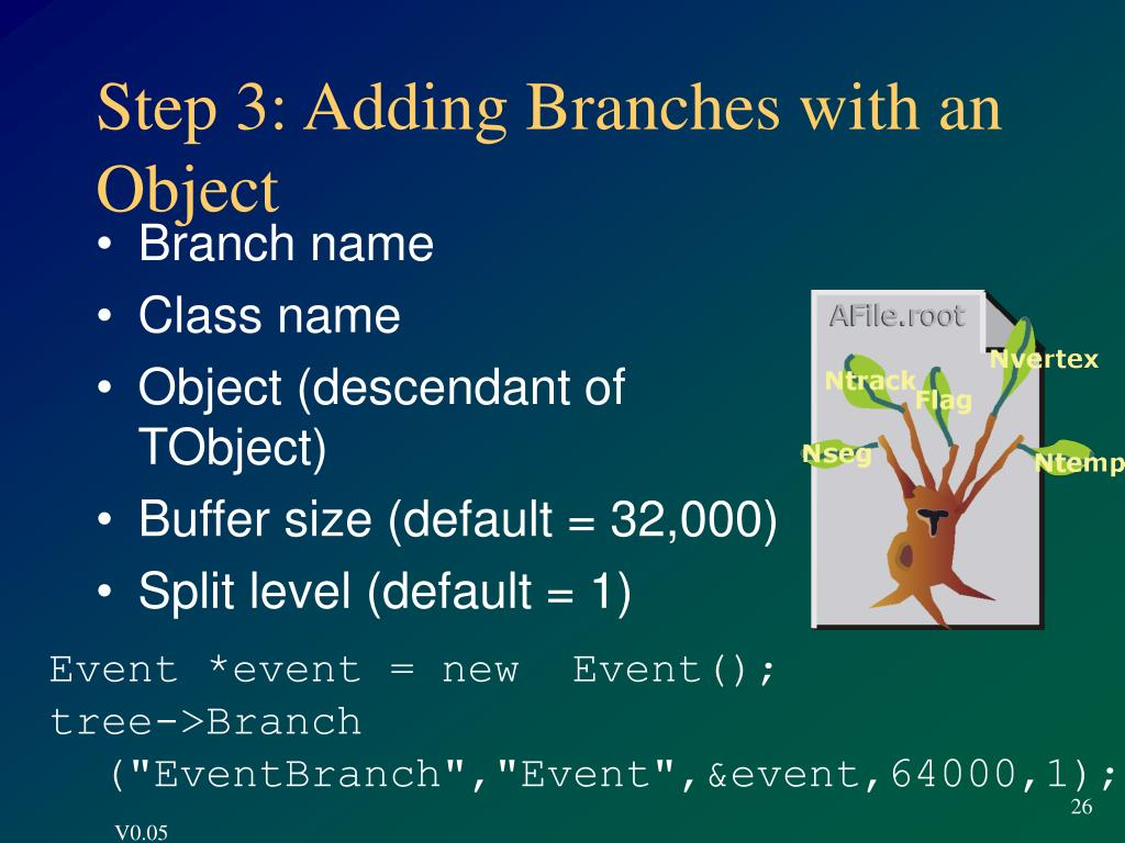 Step 3: Adding Branches with an Object