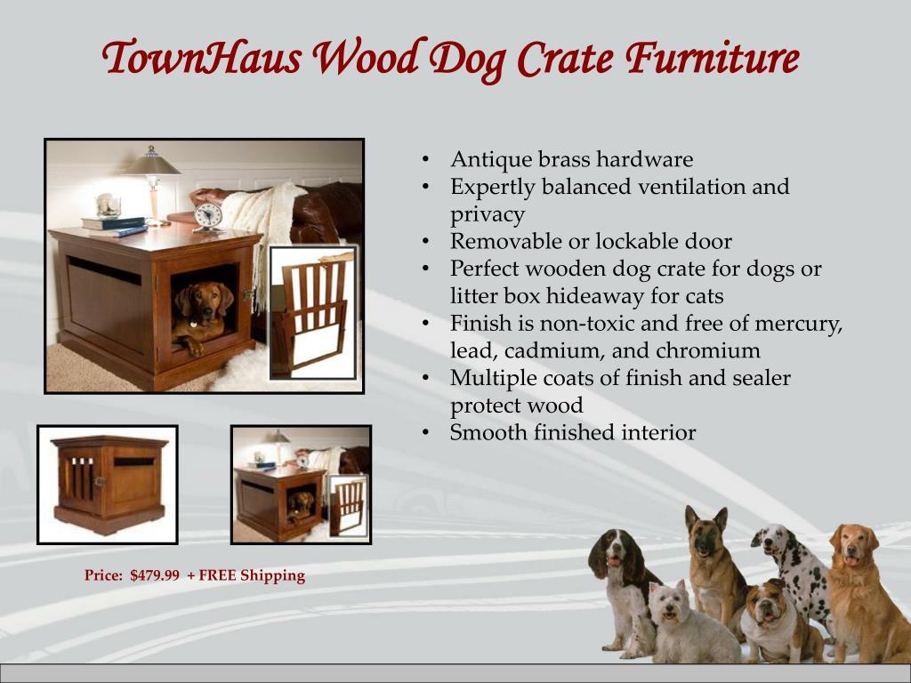 TownHaus Wood Dog Crate Furniture