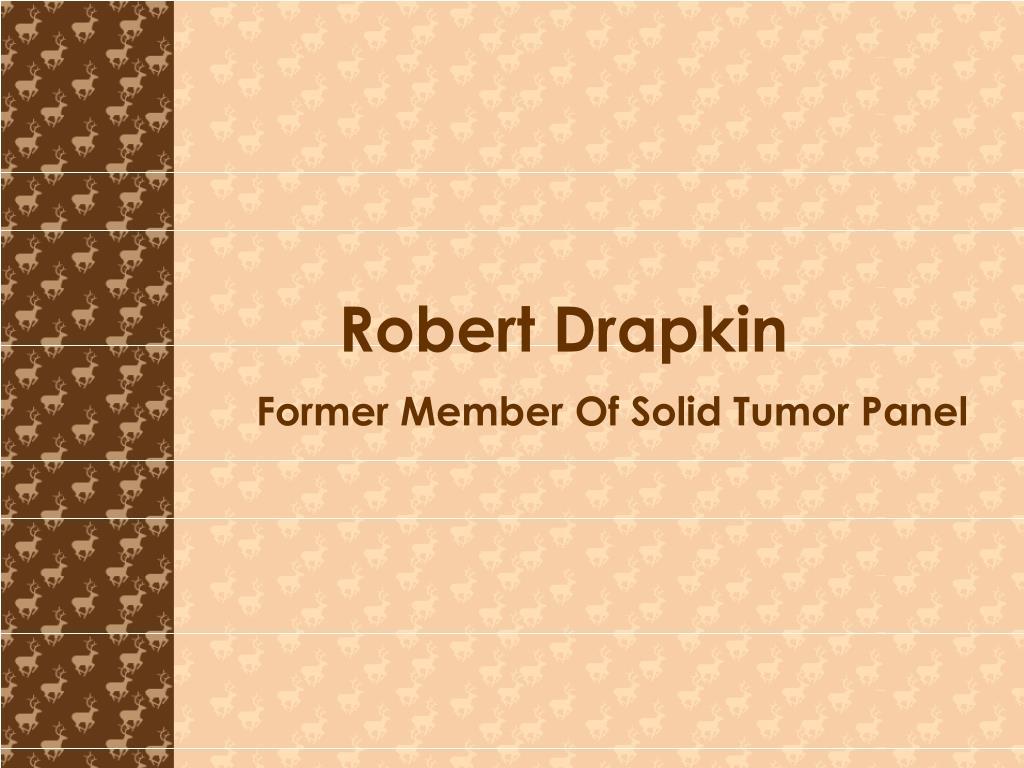 former member of solid tumor panel l.