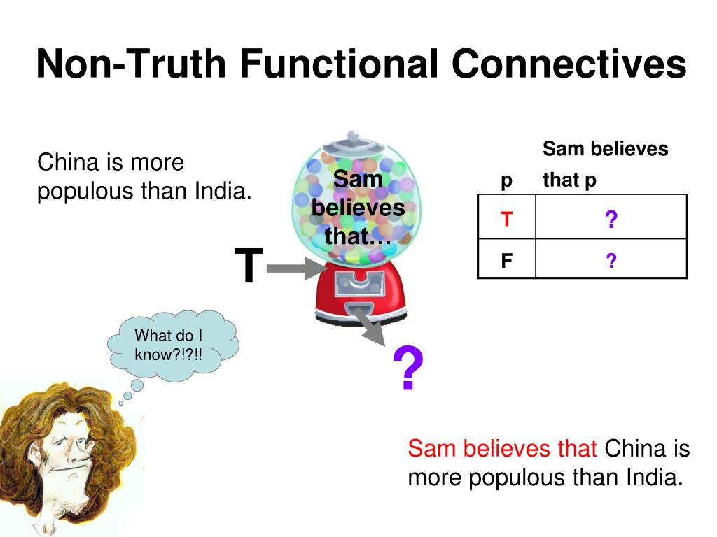Non-Truth Functional Connectives
