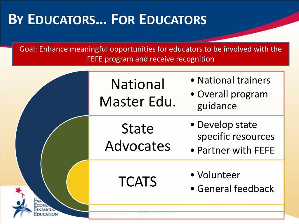 By Educators… For Educators