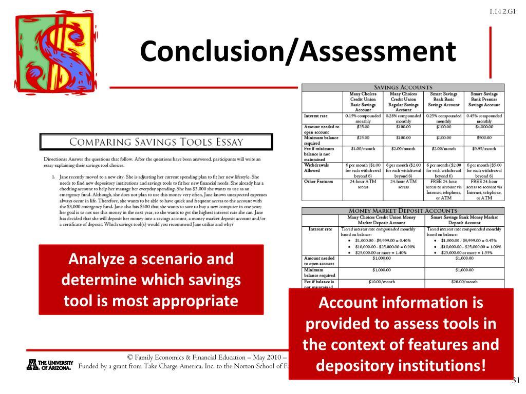 Conclusion/Assessment