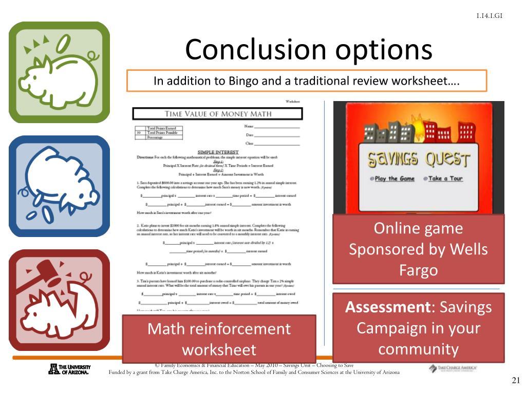 Conclusion options