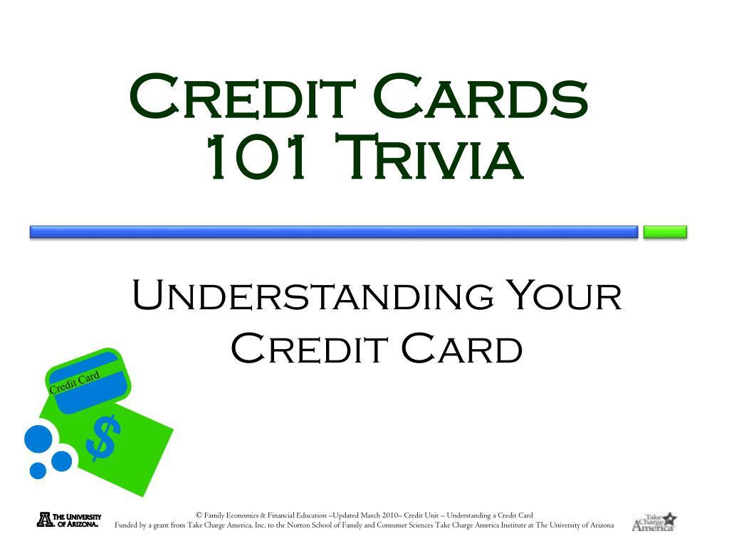 Understanding Your Credit Card