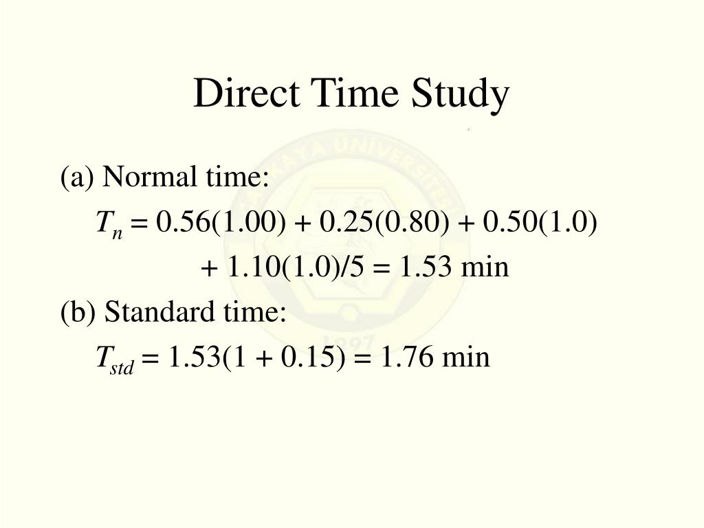 Direct Time Study