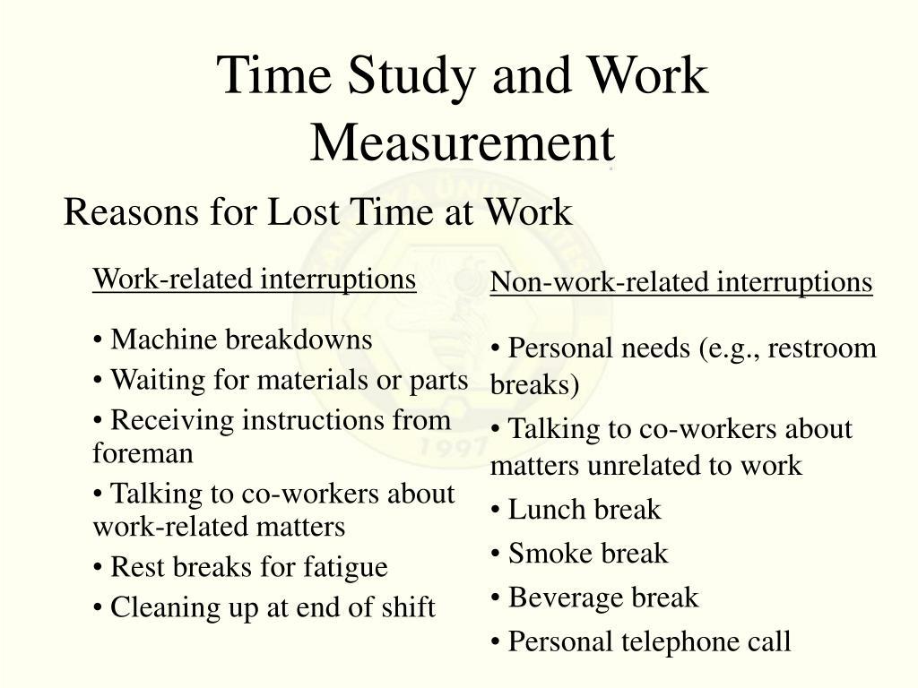 Work-related interruptions