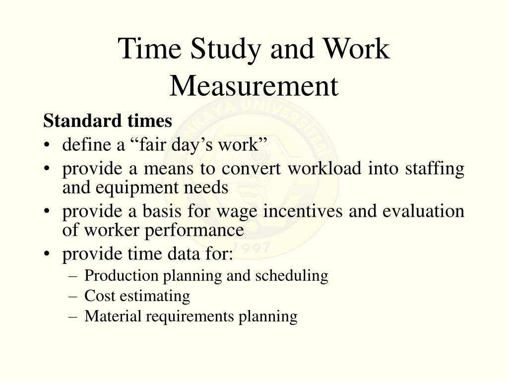 Time Study and Work Measurement