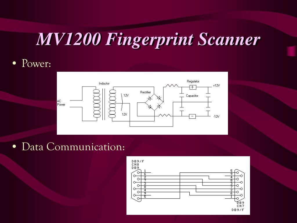 MV1200 Fingerprint Scanner