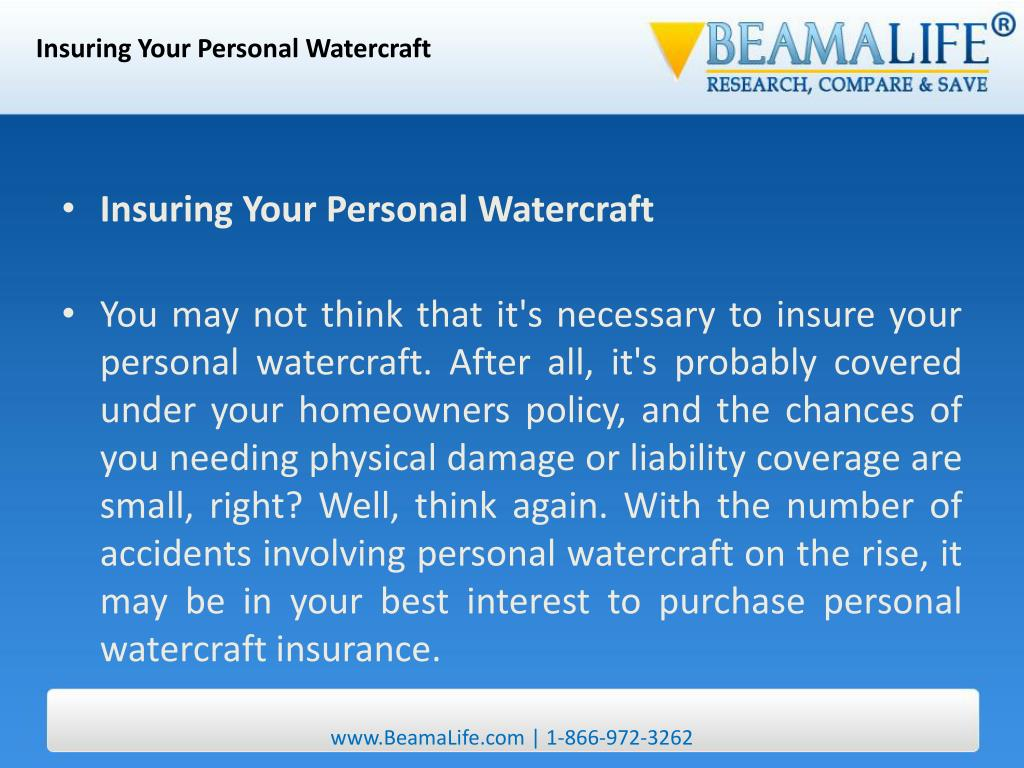 Insuring Your Personal Watercraft