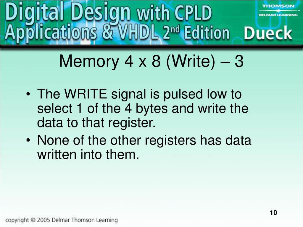 Memory 4 x 8 (Write)