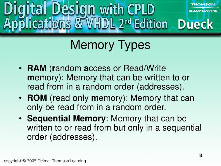 Memory types
