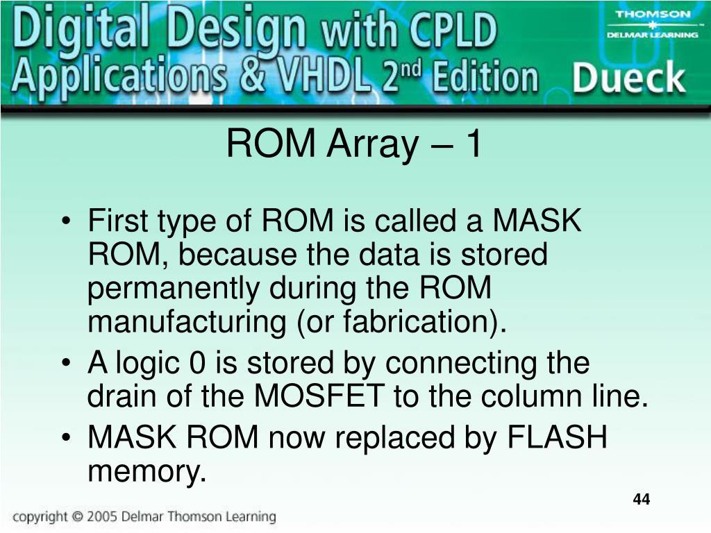 ROM Array – 1