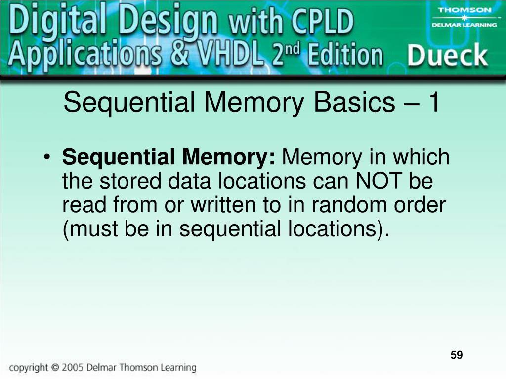Sequential Memory Basics