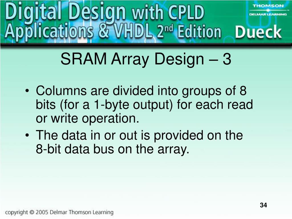 SRAM Array Design