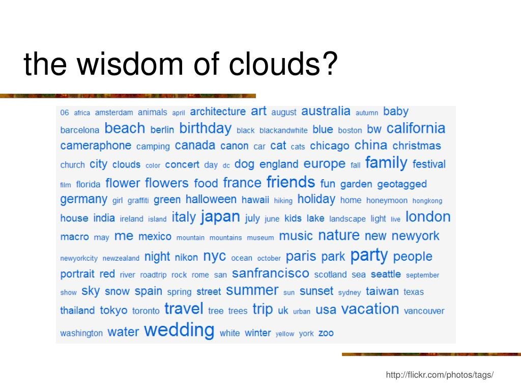 the wisdom of clouds?
