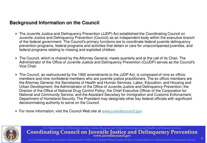 Background information on the council
