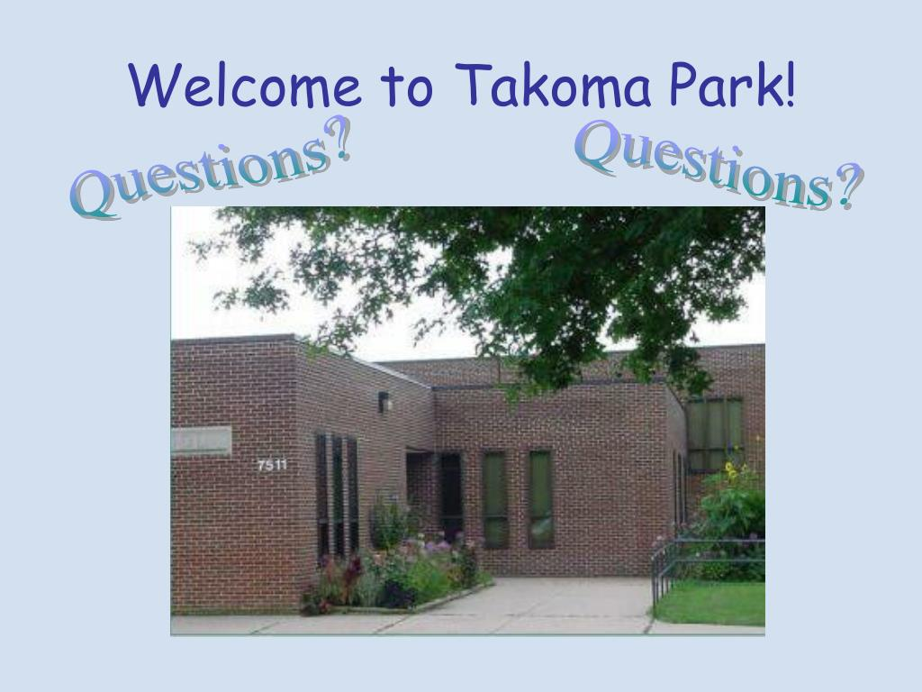 Welcome to Takoma Park!