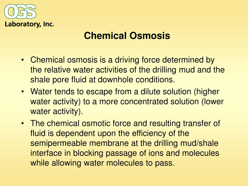 Chemical Osmosis