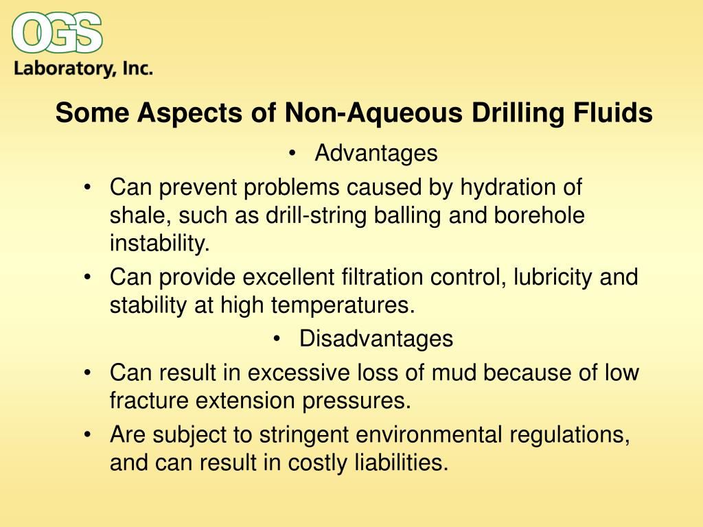 Some Aspects of Non-Aqueous Drilling Fluids