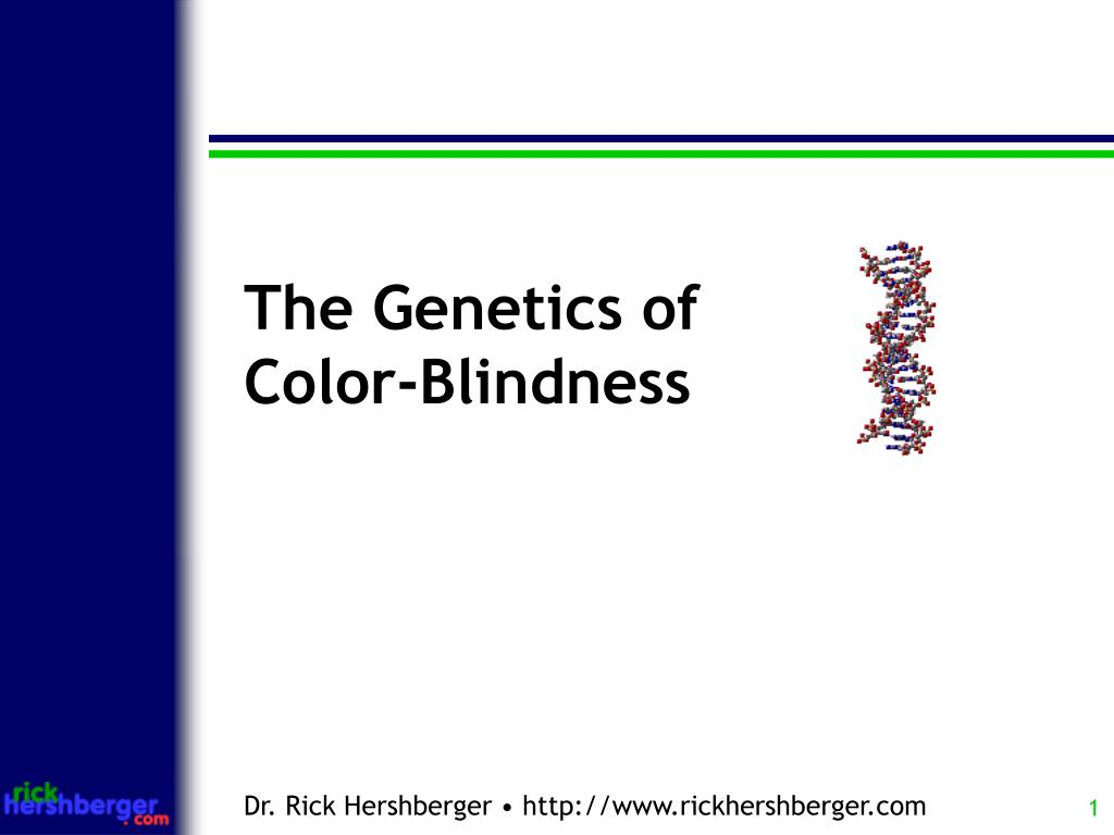 Ppt The Genetics Of Color Blindness Powerpoint Presentation Id