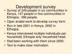 development survey