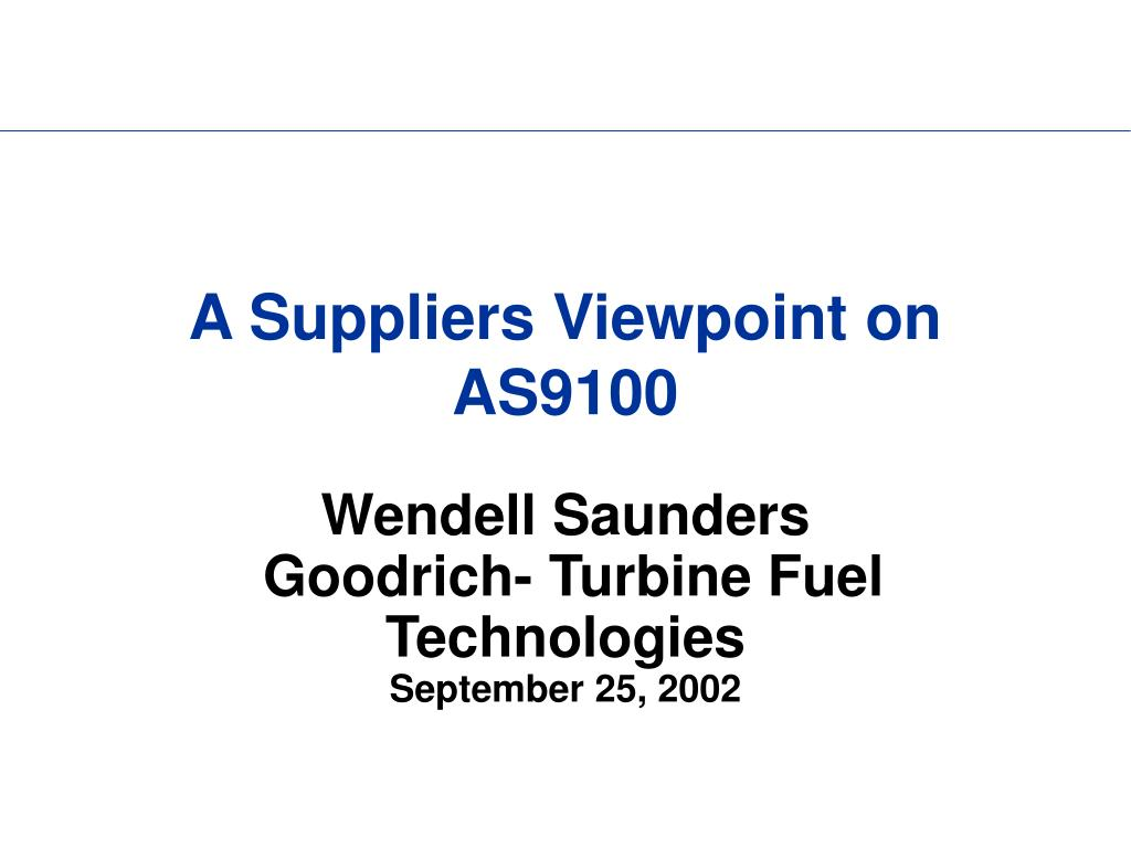 a suppliers viewpoint on as9100