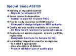special issues as9100