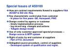 special issues of as9100