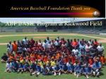american baseball foundation thank you