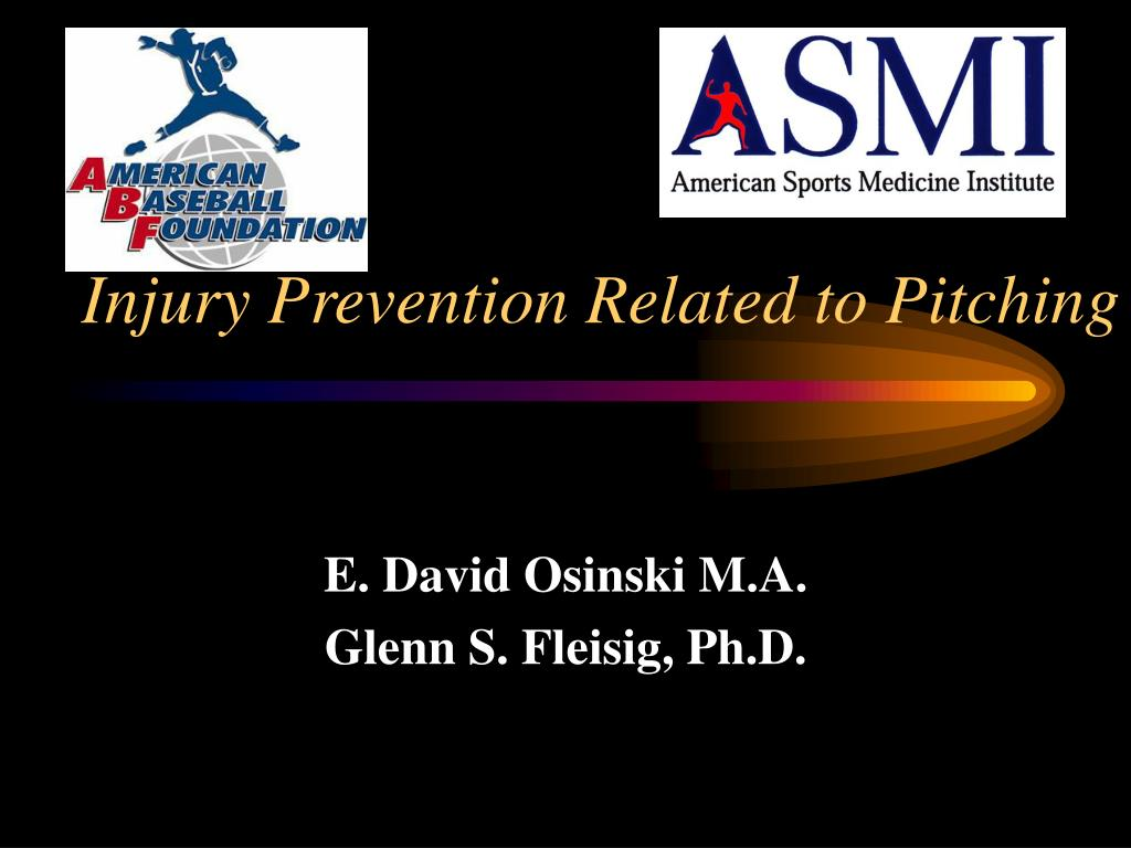 injury prevention related to pitching l.