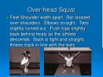 over head squat