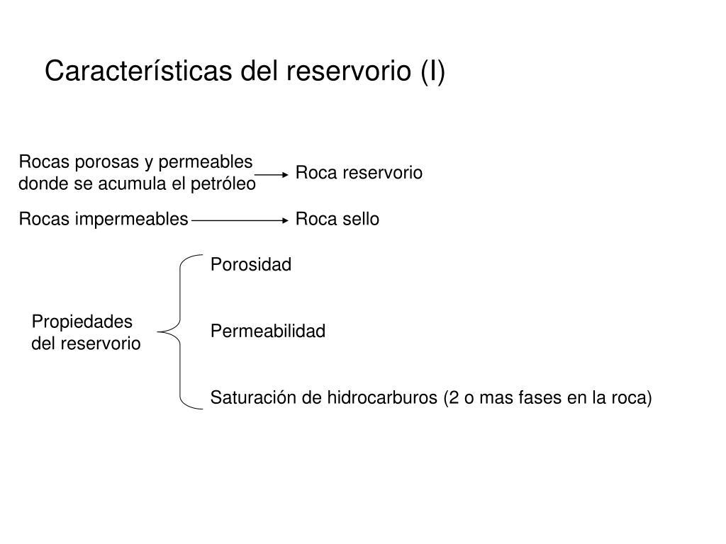 Características del reservorio (I)