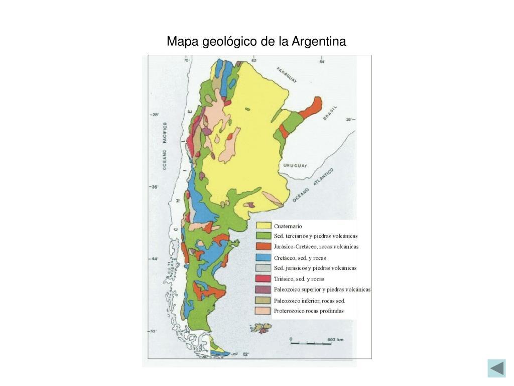 Mapa geológico de la Argentina