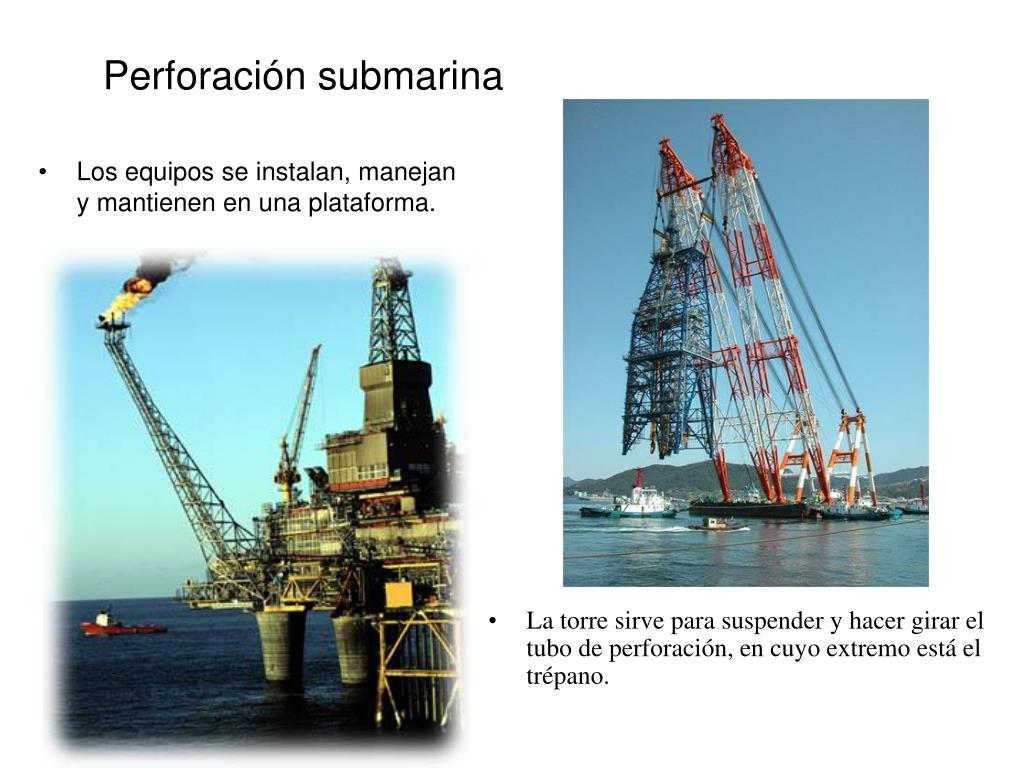 Perforación submarina