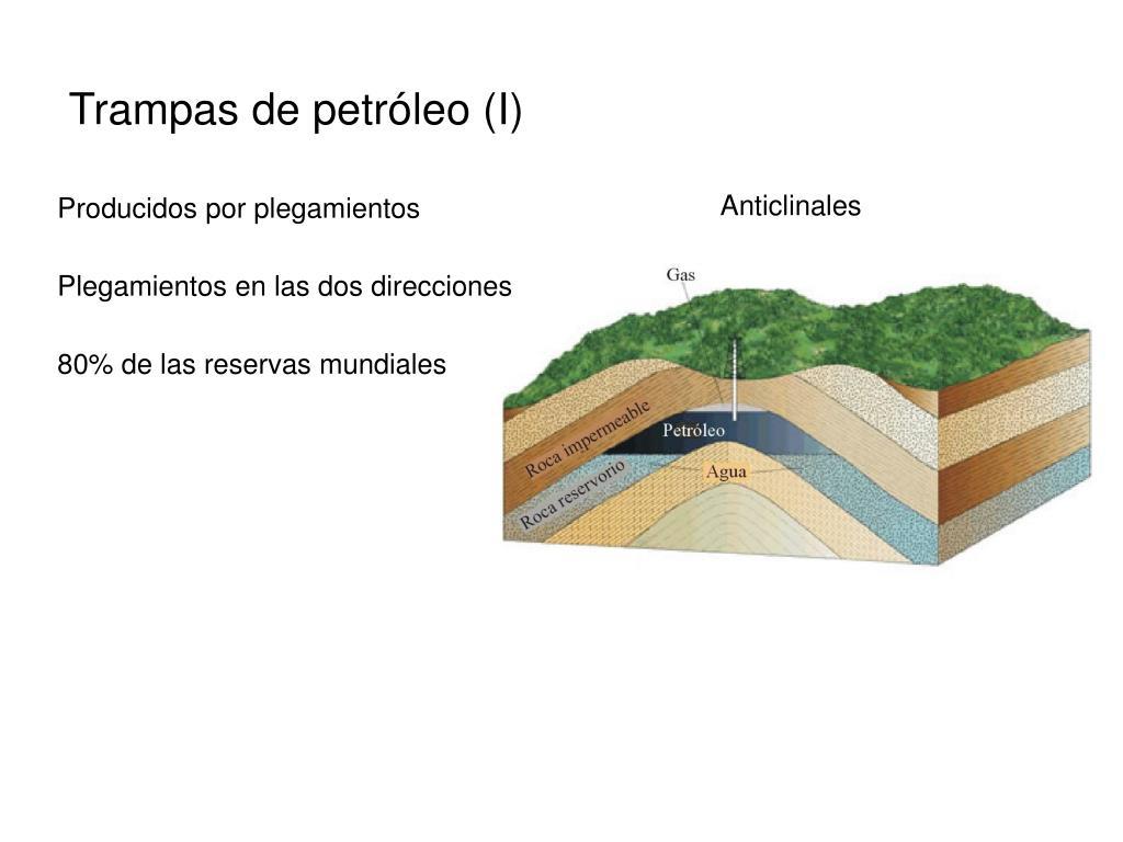 Trampas de petróleo (I)