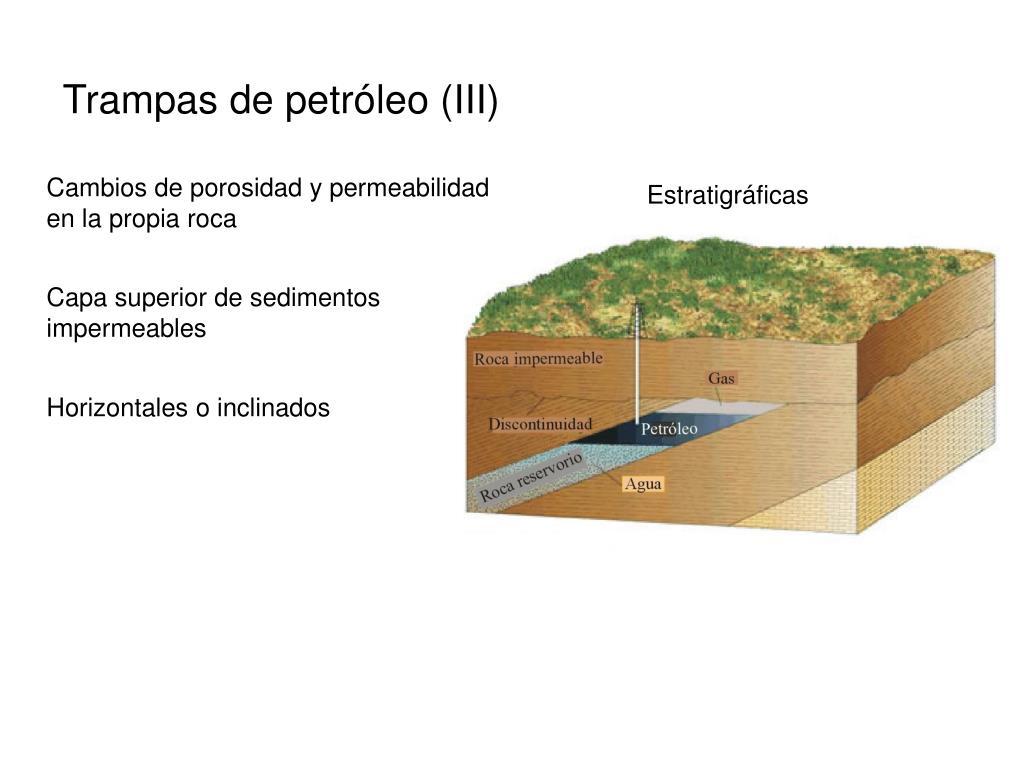 Trampas de petróleo (III)