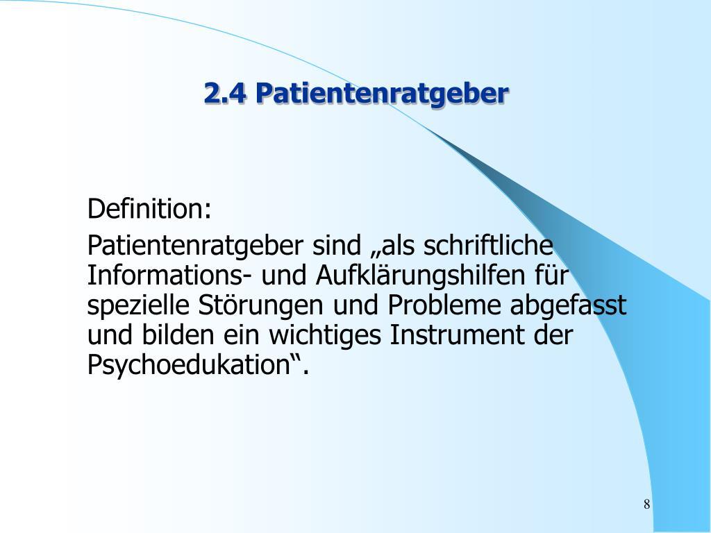 2.4 Patientenratgeber