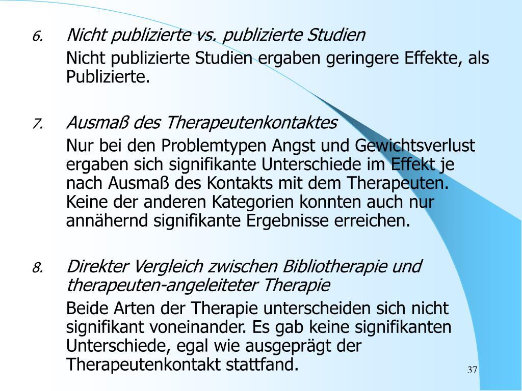 Nicht publizierte vs. publizierte Studien