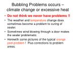 bubbling problems occurs climate change or excessive heat