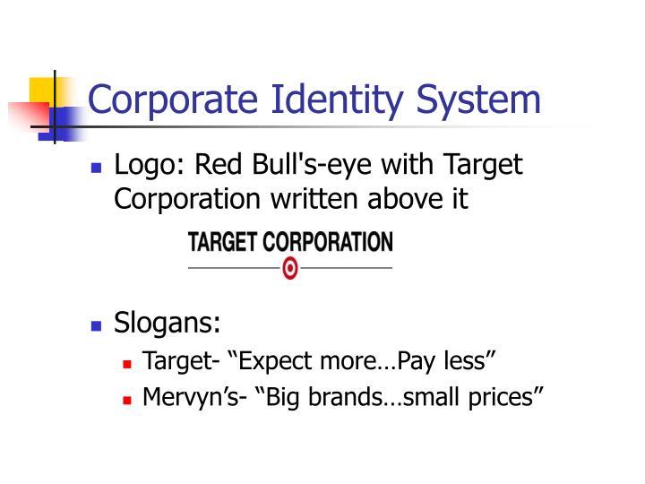 Corporate identity system