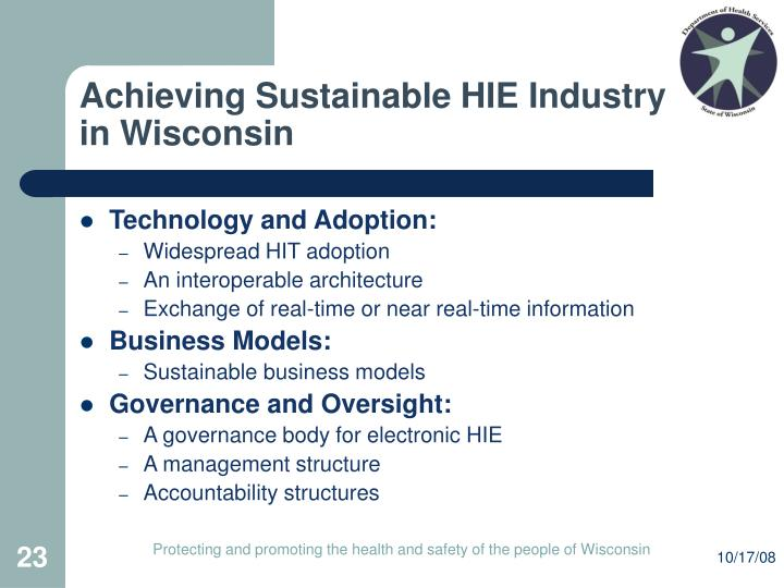 Achieving Sustainable HIE Industry