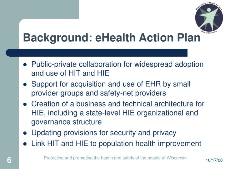 Background: eHealth Action Plan