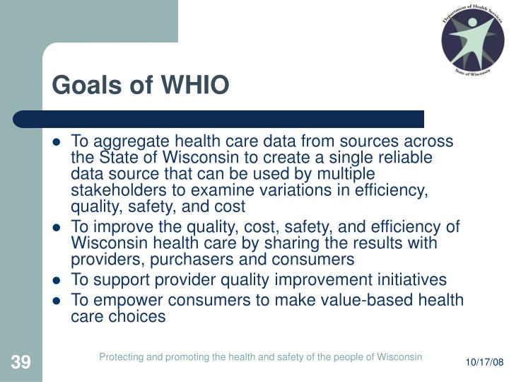 Goals of WHIO
