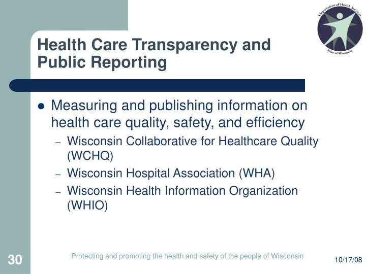 Health Care Transparency and