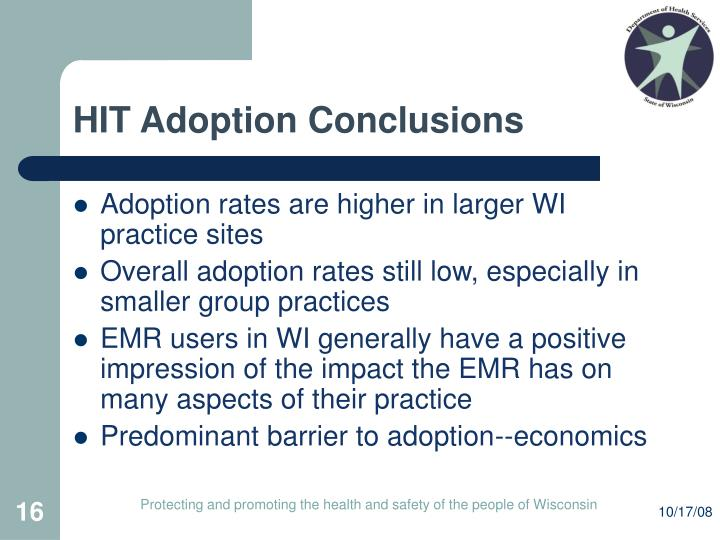 HIT Adoption Conclusions