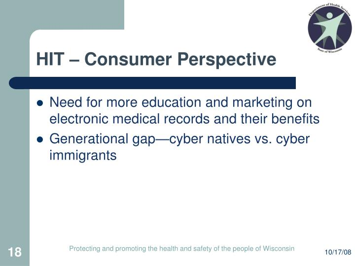 HIT – Consumer Perspective