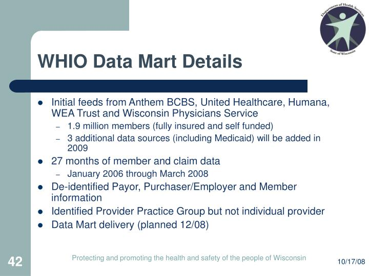 WHIO Data Mart Details